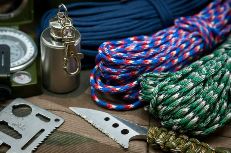 Hiking essentials with paracord